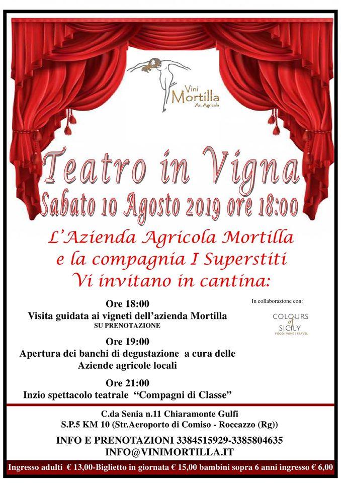 Teatro in vigna… Un calice sotto le stelle   Sicilia da Gustare