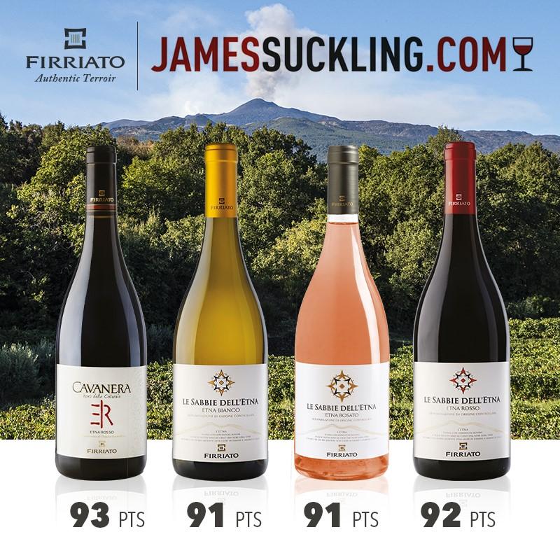 James Suckling  premia i vini Firriato | Sicilia da Gustare
