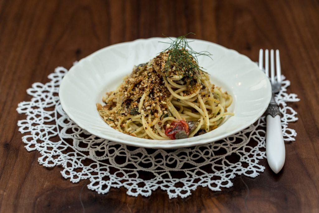 Spaghetti alla Turiddu   Gianluca Leocata   Ristorante Me Cumpari Turiddu