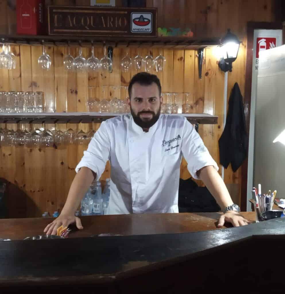 Ristroante lacquario marzamemi adelfio chef Luca gradanti