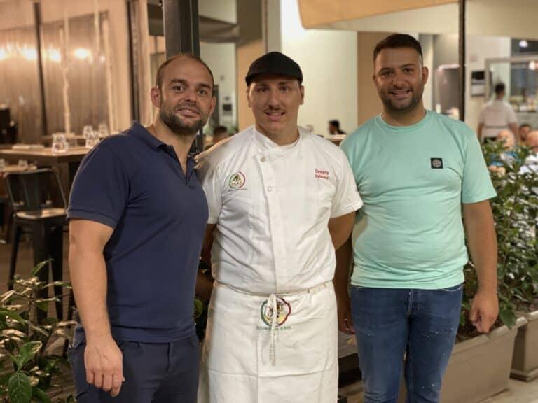 Pizzeria Procopio da sx PAOLO CIANI-CESARE FALSONE-ALESSIO CIANI