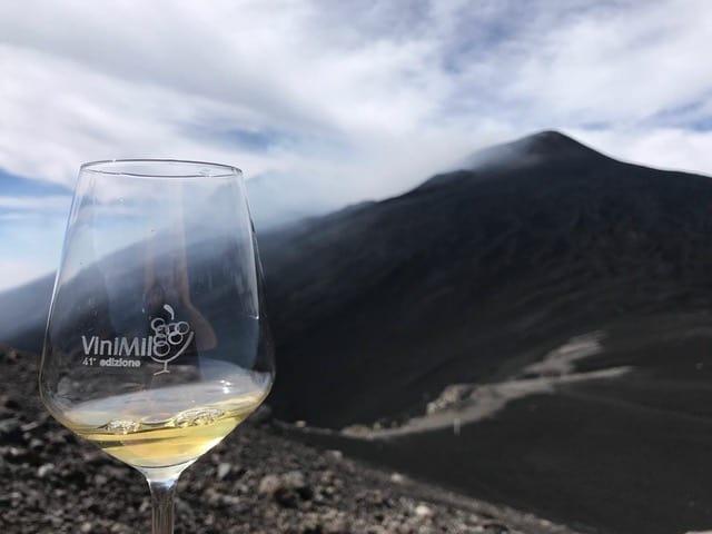 Vinimilo 2021 (sullo sfondo il cratere principale dell'Etna, quota 2900 mt) ph. Melamedia